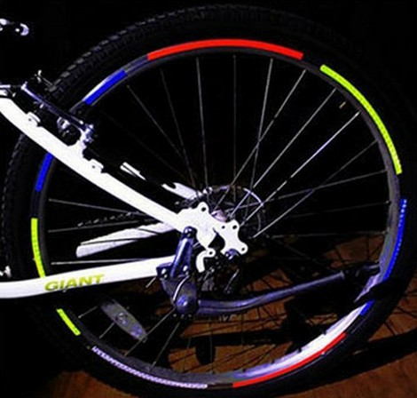 Adesivo Refletivo Roda Bicicleta Aro Moto Bike