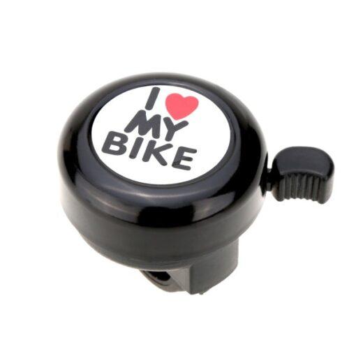 Buzina Campainha Trim-Trim I Love My Bike Bicicleta - Preta