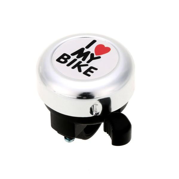 Campainha Bicicleta Trim-Trim I Love My Bike Bicicleta - Prata