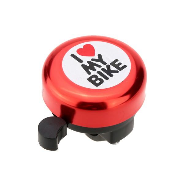 Campainha Trim-Trim I Love My Bike Bicicleta - Vermelha
