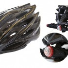 Capacete High One Bike MTB 25A10 Tam G com Luz Preto Cinza
