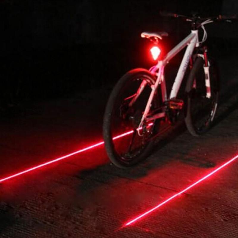 Lanterna Traseira Bike ciclofaixa Luz Led Laser