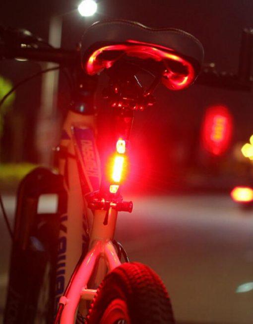 Lanterna Traseira Bike Recarregável USB Portátil Super Brilhante