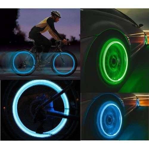 Neon Lâmpada Luz Válvula Pneu Carro Moto Bicicleta