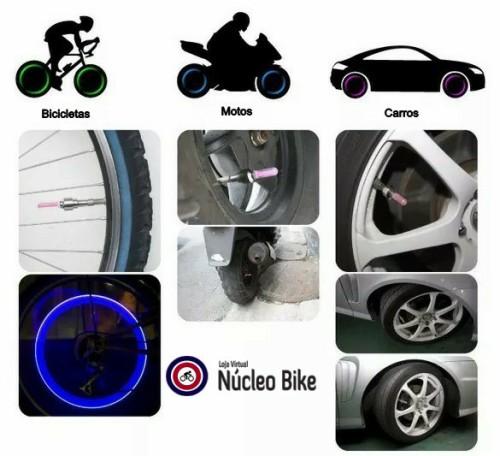 Neon de Válvula Pneu Carro Moto Bicicleta