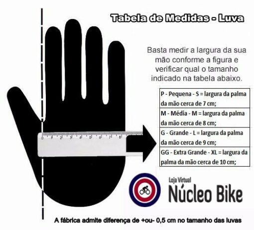 Luva Gel Moke Dedo vazado Bike Ciclismo Academia - Tamanhos