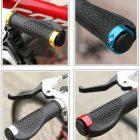 Manopla Ergonômica MTB Mountain Bike Bicicleta 130mm com Trava
