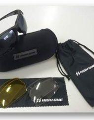Óculos de Ciclista High One Preto e Cinza com 3 Lentes