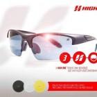Óculos de Ciclista High One Preto e Vermelho com 3 Lentes