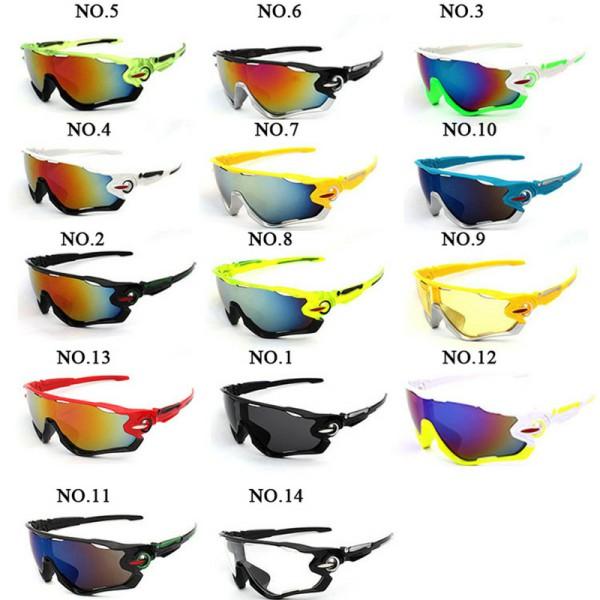 Diversas cores: Escolha pelo Número Óculos Ciclismo Proteção UV400 Ciclista Bike
