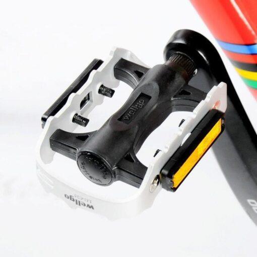 Pedal Wellgo LU-C25 Bicicleta Ultraleve Alumínio Prata