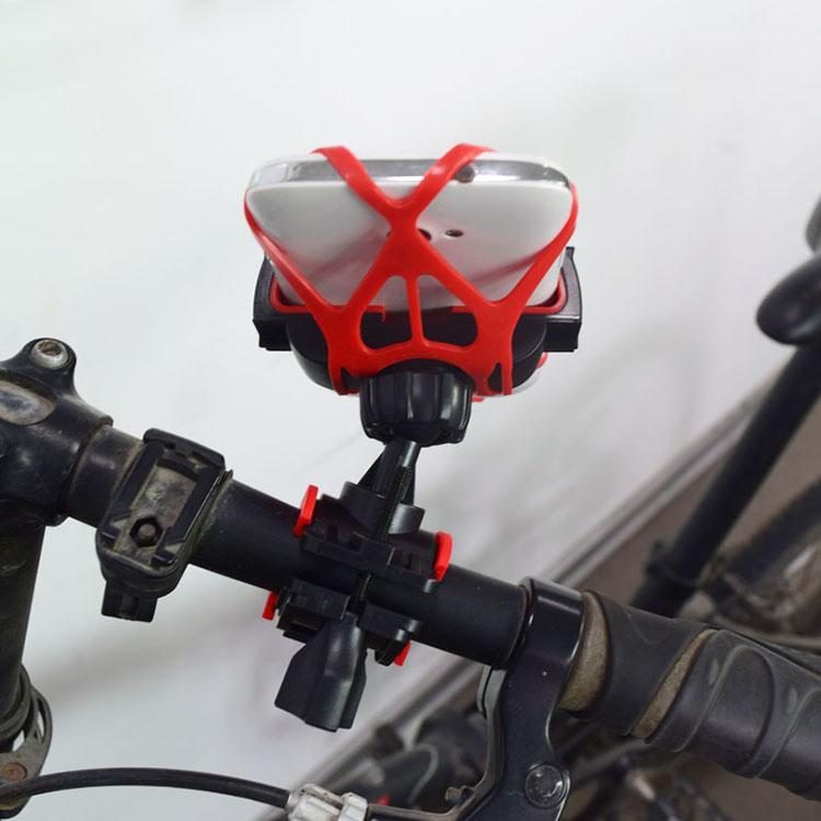 Suporte de Guidão Bicicleta Bike Moto Celular GPS Vermelho Preto